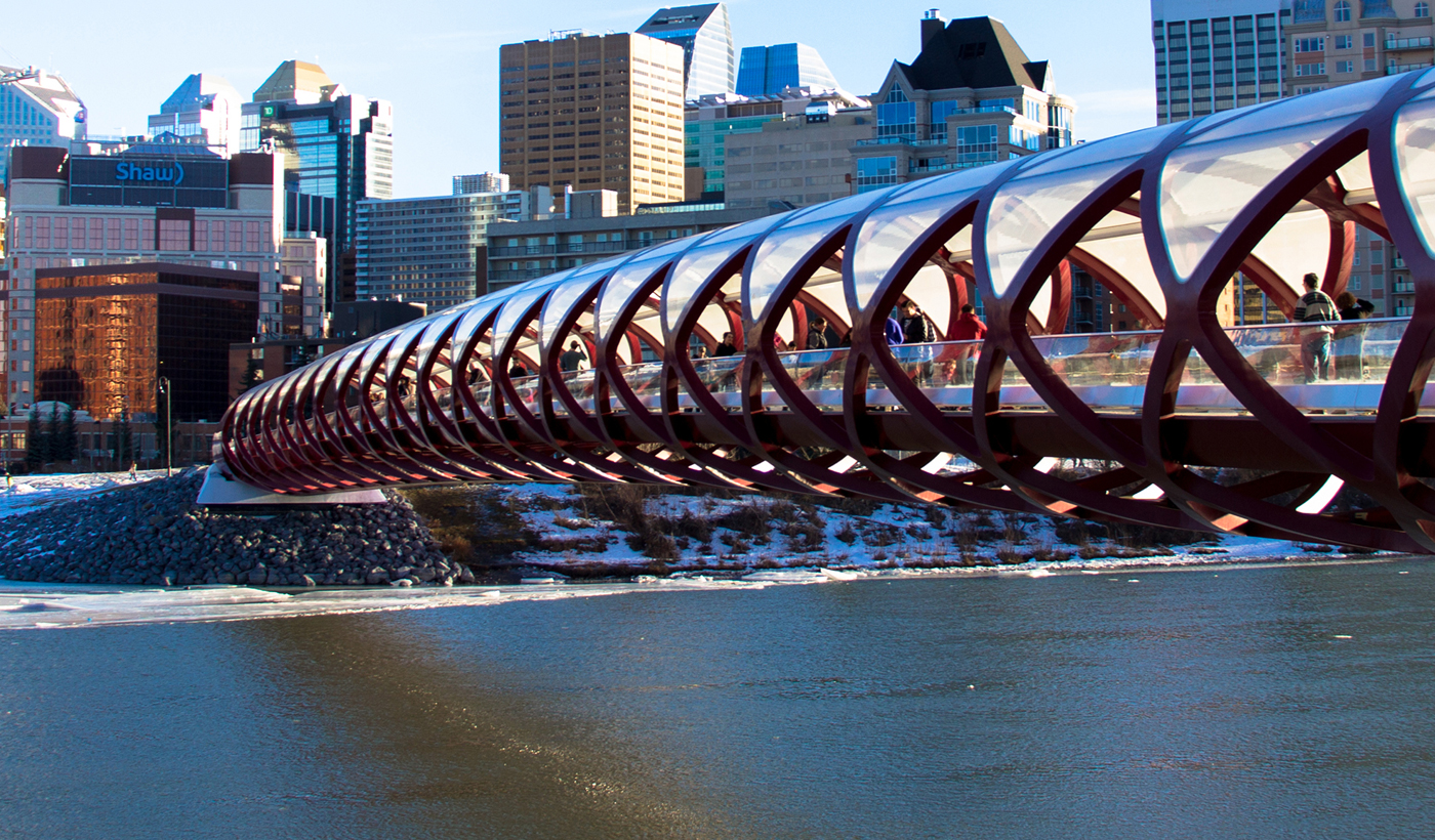 Calgary's Peace Bridgeunique and artistic